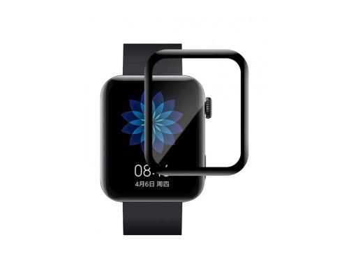 Защитное стекло PMMA для Xiaomi MI Watch, с полной проклейкой, чёрное