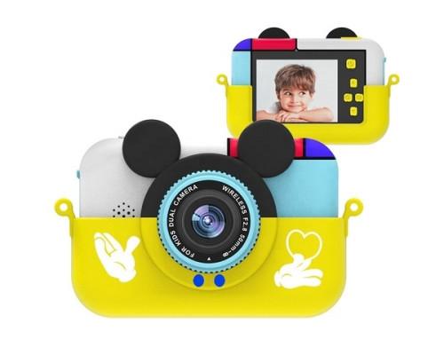 """Детский развивающий цифровой фотоаппарат """"Children's fun Camera: Mickey"""", с селфи-камерой, желтый"""