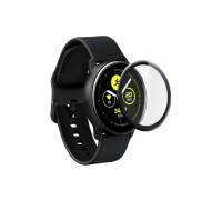 Защитное стекло PMMA для Samsung Galaxy Watch Active 2 44mm, с полной проклейкой, full 3D, чёрное