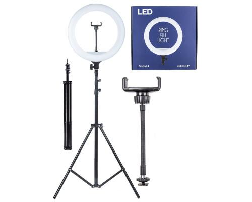Кольцевая лампа SL-3614 селфи лампа с держателем для смартфона и штативом, диаметр лампы - 36 см