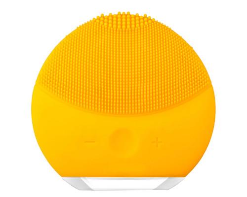 Очищающий и тонизирующий массажер для лица с вибрацией (желтый)