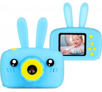 Детский цифровой фотоаппарат Camera Rabbit X9, голубой
