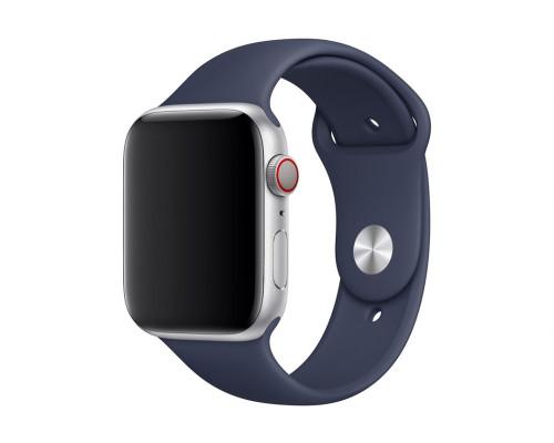 Ремешок для Apple Watch 38 - 40 мм силиконовый темно синий