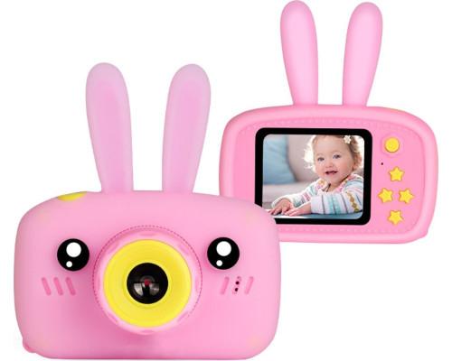 Детский цифровой фотоаппарат Camera Rabbit X9, розовый