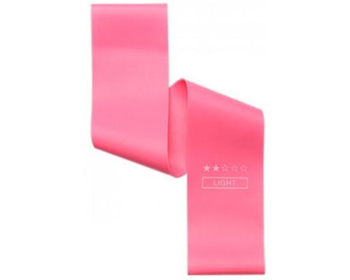 Резинка для фитнеса (эспандер мини-петля) розовая, силикон, нагрузка 4-7 кг, 1шт, 30х5см