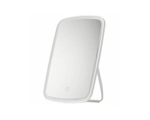 Косметическое настольное зеркало для макияжа с подсветкой, 23.5 х 16.5 х 2 см, белое