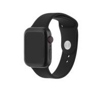 Ремешок для Apple Watch 38 - 40 мм силиконовый черный