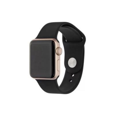 Ремешок Premium для Apple Watch 38 - 40 мм силиконовый черный
