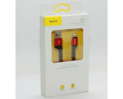 Кабель USB Lightning 1M 2A Anti-break Baseus красный