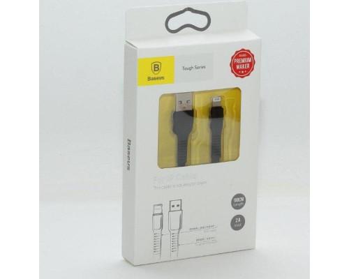 Кабель USB Lightning 1m 2A Tough Series Cable Baseus черный