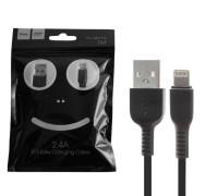 Кабель USB Lightning X13 1M 2.4A HOCO черный