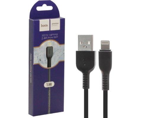 Кабель USB Lightning X20 1M 2.4A HOCO черный