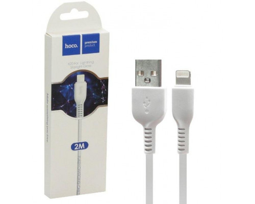 Кабель USB Lightning X20 2M HOCO белый