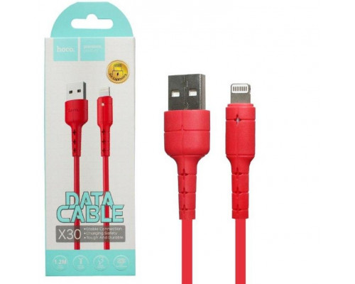 Кабель USB Lightning X30 1.2M HOCO красный