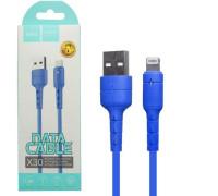 Кабель USB Lightning X30 1.2M HOCO синий
