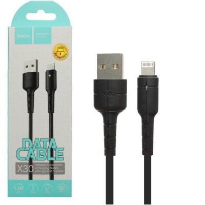 Кабель USB Lightning X30 1.2M HOCO черный