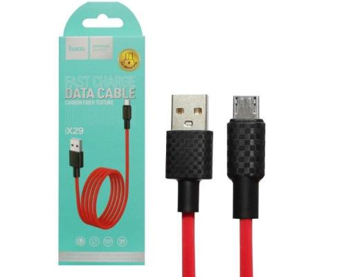 Кабель USB Micro USB X29 1M HOCO красный
