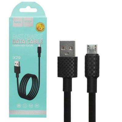 Кабель USB Micro USB X29 1M HOCO черный