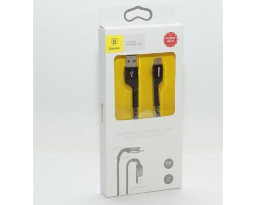Кабель USB Type-C 1M 2A Anti-break Baseus черный