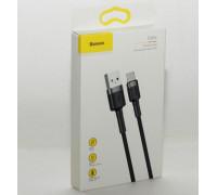 Кабель USB Type-C 1M 3A Cafule Cable Baseus серый черным