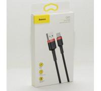 Кабель USB Type-C 1M 3A Cafule Cable Baseus черный