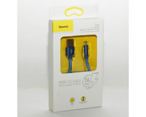 Кабель USB Type-C 1M A Speed Baseus синий