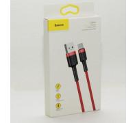 Кабель USB Type-C 2M 2A Cafule Cable Baseus красный