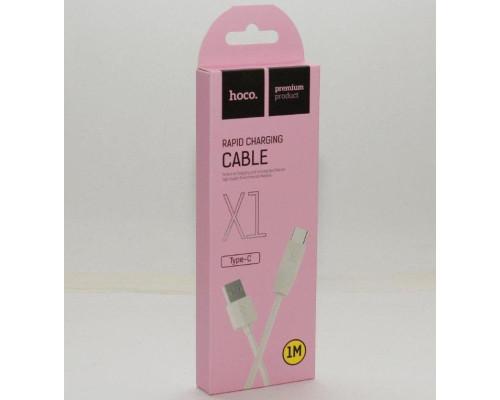 Кабель USB Type-C X1 1m HOCO белый