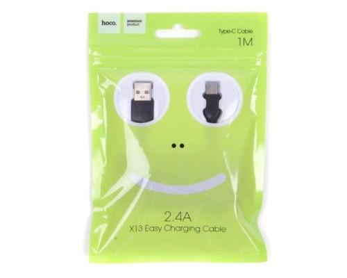 Кабель USB Type-C X13 1m HOCO черный