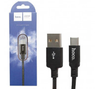 Кабель USB Type-C X14 1M HOCO черный