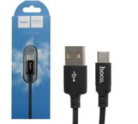 Кабель USB Type-C X14 2M HOCO черный