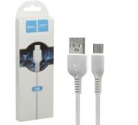Кабель USB Type-C X20 1M 2.4A HOCO белый