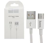 Кабель HOCO X23 USB Type-C 1m белый
