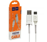 Кабель USB Type-C X24 1m HOCO белый