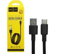 Кабель USB Type-C X29 1M HOCO черный