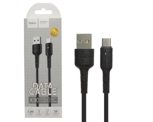 Кабель USB Type-C X30 1.2M HOCO черный