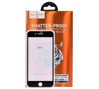 Защитное стекло HOCO для iPhone 7 со скругленными краями черное