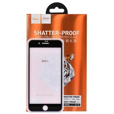 Защитное стекло HOCO Nano для iPhone 8 со скругленными краями черное