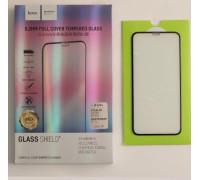 Защитное стекло HOCO для iPhone XS 3D толщина 0.2 мм черное