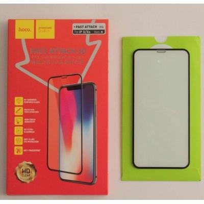 Защитное стекло HOCO для iPhone XS 3D черное