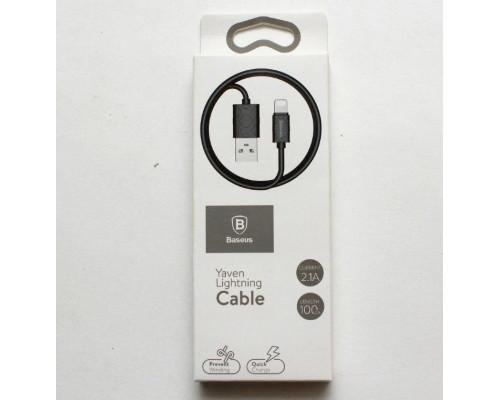 Кабель USB Lightning 1m 2.1A Yaven Cable Baseus черный