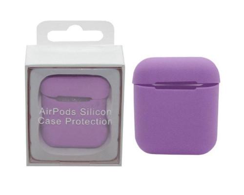 Чехол для Airpods Silicon Case светло-фиолетовый
