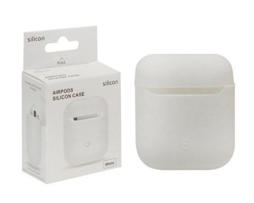 Чехол для Airpods Silicon Case белый WS