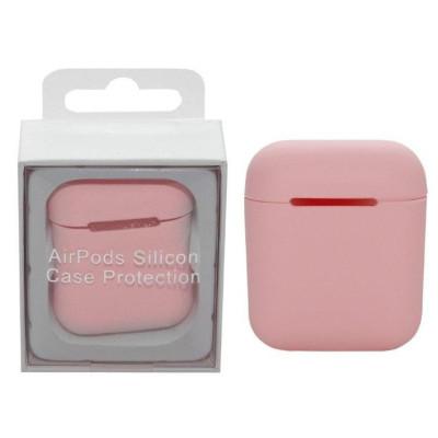 Чехол для Airpods Silicon Case розовый