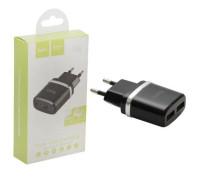 Адаптер для зарядки HOCO C12 на 2 USB черный