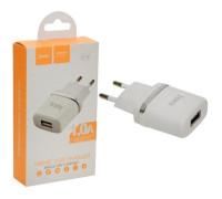 Адаптер для зарядки HOCO C11 на USB 1A белый