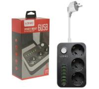 Сетевое зарядное устройство LDNIO на 6 USB 3 розетки 3.4A SE3631