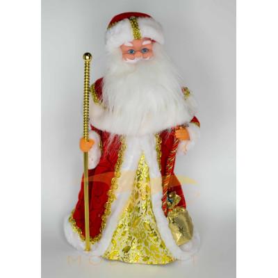 Фигура Деда Мороза с посохом высотой 40 см