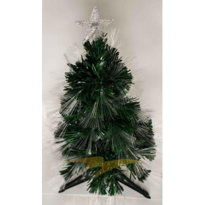 Искусственная новогодняя елка на подставке 120 см зеленая со звездой и гирляндой