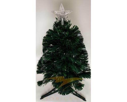 Искусственная новогодняя елка на подставке 180 см зеленая со звездой и гирляндой